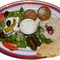 #5 Falafel and Baba Ganoug